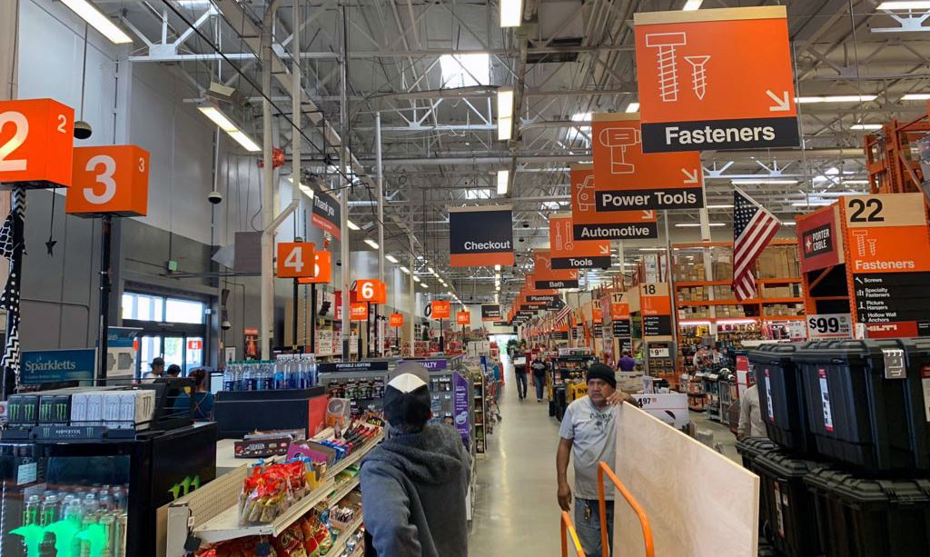 Home Depot shopping with senior discount