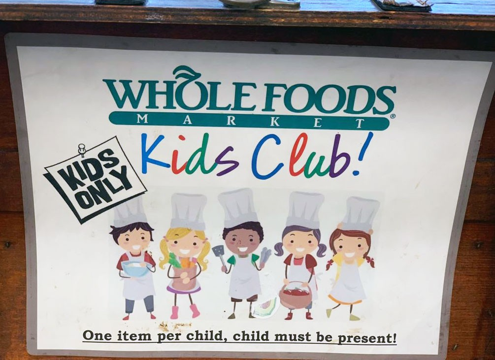 Whole Foods kids club deals